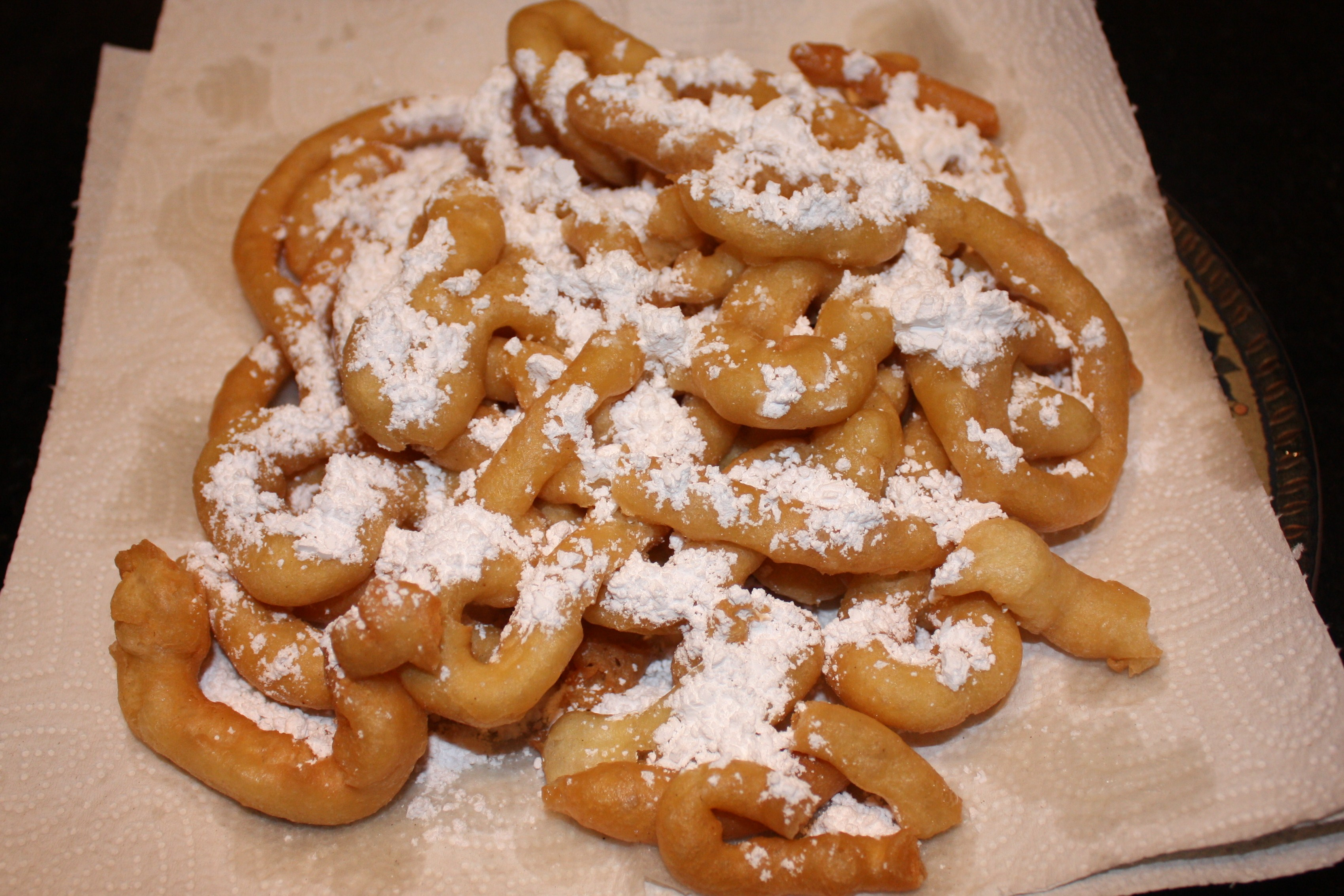 Feed Your Kids » Alton Brown's Funnel Cake