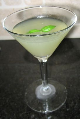 "Basil-Lime Martini – This is not a ""kid"" recipe, I know, but ..."