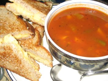 Cold Grilled Vegetable Soup Recipe — Dishmaps